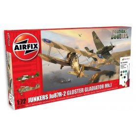 Airfix 1:72 Ju-87b Stuka + Gloster Gladiator