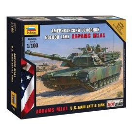 Zvezda 1:100 M1A1 Abrams - US MAIN BATTLE TANK