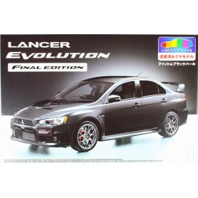 Aoshima 1:24 Mitsubishi Lancer X Final Edition Black Pearl Prepainted