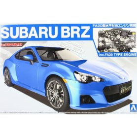 Aoshima 1:24 Subaru BRZ 2012 with engine