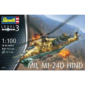 Revell 04951 1/100 Mil Mi-24D Hind