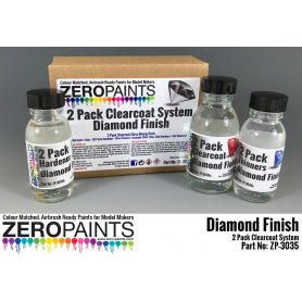 Lakier bezbarwny 2 składnikowy Zero Paints Diamond Finish Gloss 2 Pack Clearcoat