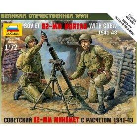 ZVEZDA 6109 SOV.82MM MORTAR W/CREW