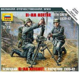ZVEZDA 6111 GER. 81MM MORTAR W/CREW