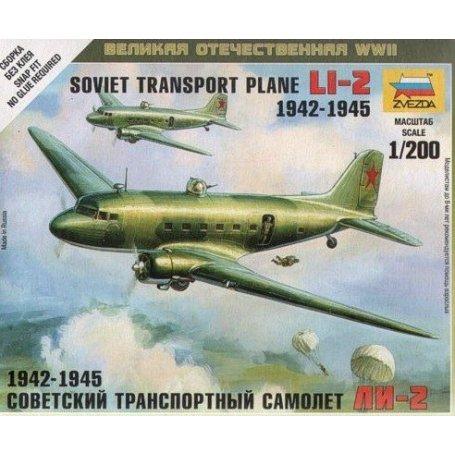 Zvezda 6140 Soviet Transport Plane LI-2 1942-1945    Plastic small kit 1:200