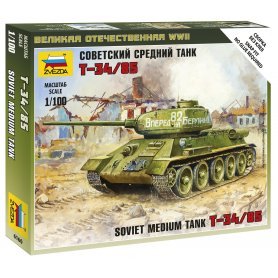 Zvezda 6160 Soviet Tank T-34/85 1/100