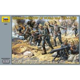 Zvezda 1:72 German infantry / WWI   41 figurines  
