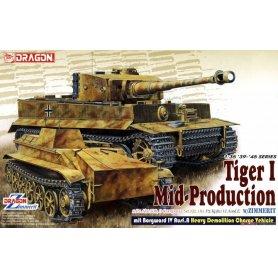 Dragon 1:35 Pz.Kpfw.VI Tiger I middle production w/Zimmerit and Borgward IV Ausf.A