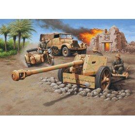 Revell 1:76 Sd.Kfz.11 + 7,5 cm Pak 40 - niemiecki pojazd półgąsienicowy z armatą przeciw pancerną kalibru 75 mm.