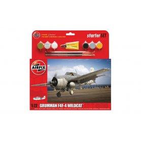 Airfix 1:72 Grumman F4F-4 Wildcat - STARTER SET - z farbami