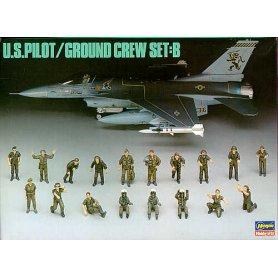 Hasegawa X48-5 - 36005 U.S.Pilot/Ground Crew Set B