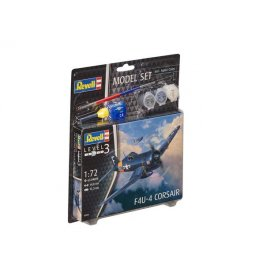 Revell 1:72 Vought F4U-4 Corsair - MODEL SET - w/paints