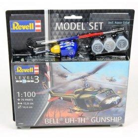 Revell 1:72 Bell UH-1H Guhship - MODEL SET - z farbami