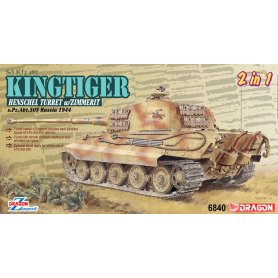 Dragon 1:35 Pz.Kpfw.VI King Tiger wieża Henschel 2w1 / s.Pz.Abt.505 Russia 1944 / Zimmerit
