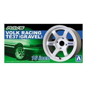 Aoshima 1:24 Wheel rims and tires VOLK RACING TE37 16INCH