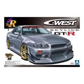 Aoshima 04101 1/24 Nissan Gt-R C-West R34