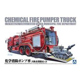 Aoshima 1:72 1/72 Chemical Fire Pumper Truck Osa