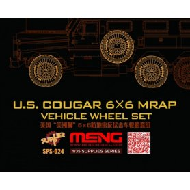 Meng SPS-024 US Cougar 6x6 MRAP wheel set (resin)