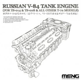 Meng SPS-028 Russian V-84 engine***