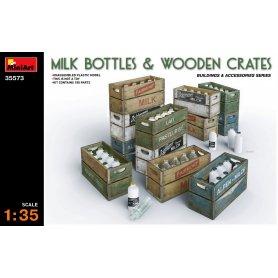 Mini Art 35573 Milk Bottles & wooden crates