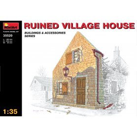 MINI ART 35520 RUINED WILLAGE HOUSE