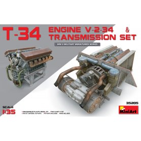 Mini Art 35205 T-34 engine(V-2-34) transmition set