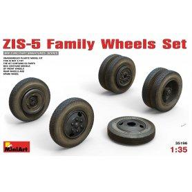 Mini Art 1:35 Koła do pojazdów rodziny ZIS-5