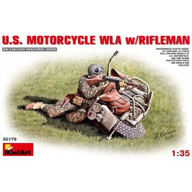Mini Art 35179 US motorcycle WLA with rifleman