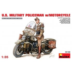 MINI ART 35168 US Military Policeman w/motorcycle