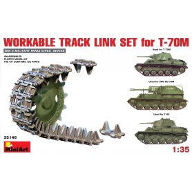 MINI ART 35146 WORKABLE TRACK -T-70