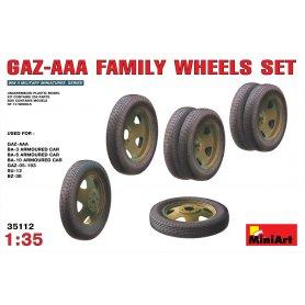 Mini Art 1:35 Koła do pojazdów rodziny GAZ-AA