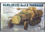 AFV Club 35083 Sd.Kfz 251/22 Ausf.D Pakwagen