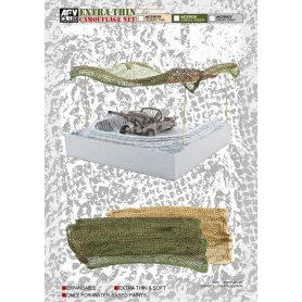 AFV Club AC35021 Camouflage Net-Snow Gray