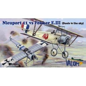 Valom 14420  Nieuport 11 Vs Fokker E.III 4 modele