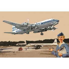 RODEN 301 1/144 DC-7C PAA PAN.AM