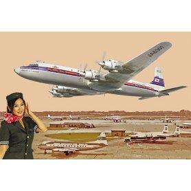 RODEN 303 1/144 DC-7C JAPAN AIR L.
