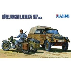 Fujimi 761053 1/76 German Kubelwagen & Sidecar