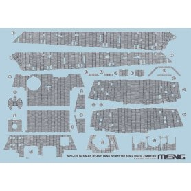 Meng SPS-039 Sdkfz 182 King Tiger-Zimmerit decal