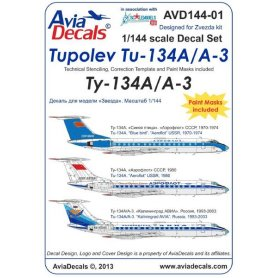 Avia Decals 144-01 Tu-134A/A-3 part. 1