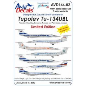 Avia Decals 144-02 Tu-134UBL