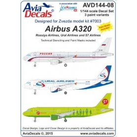 1:144 Avia Decals #144-08  Airbus A320 /& paint mask   NEW