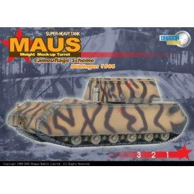Dragon 1:72 Maus Weight Mock-Up Turret, Camouflage Scheme, Boblingen 1944