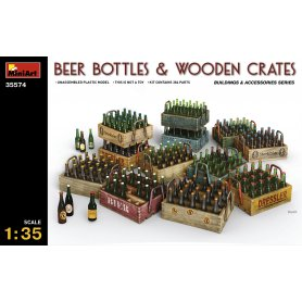 Mini Art 1:35 Beer bottles and wooden crates