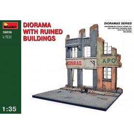 MINI ART 36036 RUINED BUILDINGS