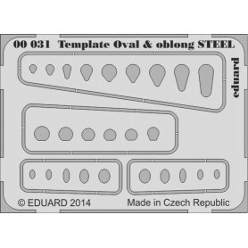 Template ovals and oblong STEEL tool