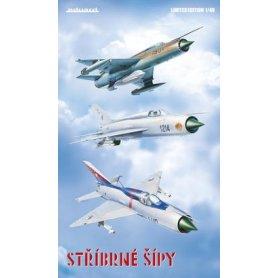 Eduard 1:48 Mikoyan-Gurevich MiG-21PF/PFM/R CSLA STRIBRNE SIPY