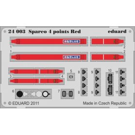 Eduard 1:24 Sparco 4 points Red