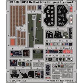 Eduard 1:32 Elementy wnętrza do Grumman F6F-3 dla Trumpeter