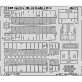 Eduard 1:48 Klapy do Supermarine Spitfire Mk.V dla Airfix 5125