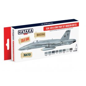 Hataka HTKAs44 Usaf,Usn&Usmc Pain Set-Modern Greys